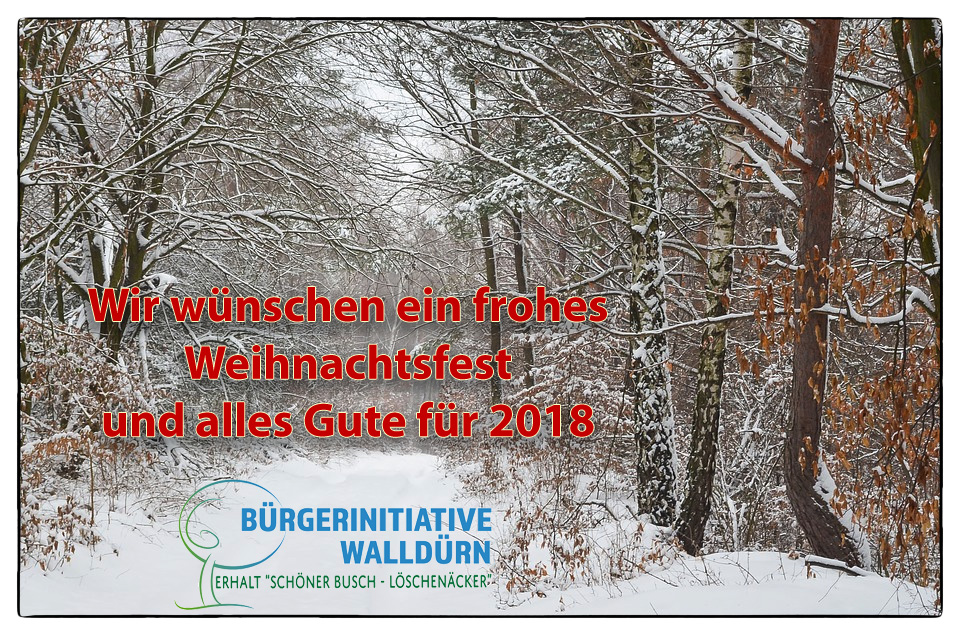 Frohe Weihnachten – Bürgerinitiative Walldürn